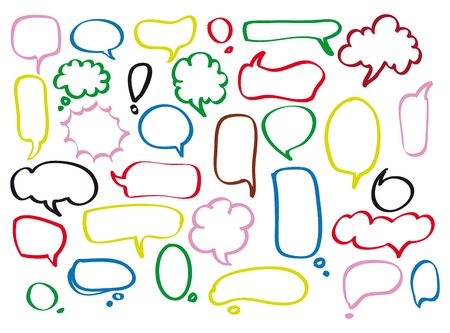 Speech bubbles vector set, EPS10 Иллюстрация