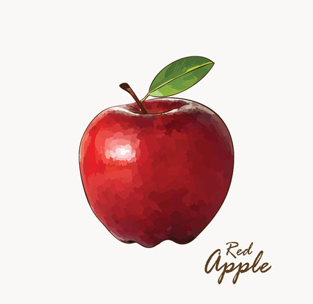 Delicious ripe apple. hand-drawn illustration with text Иллюстрация