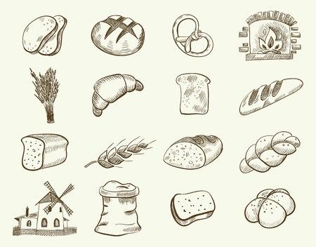 Zestaw wektorów piekarniczych Ilustracje wektorowe