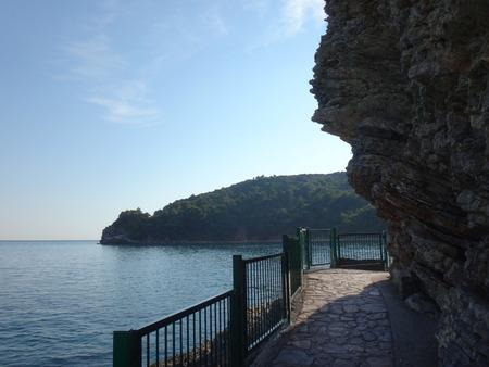 walking paths: Walking paths in the rocks near the sea