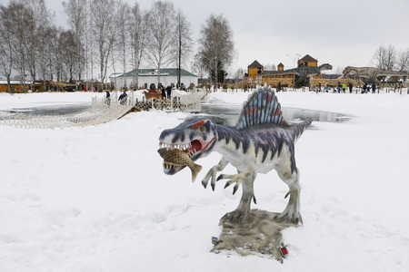 getting started: irov, Russia, February 10, 2016 - Getting started dinosaur Park Yurkin Park Editorial