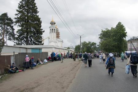 kirov: Russia, Kirov - June 06, 2016: Religious Procession on the Vyatka in 2016 in Kirov city Editorial