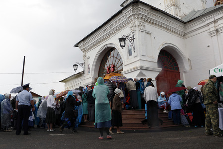 martyrdom: Russia, Kirov - June 06, 2016: Religious Procession on the Vyatka in 2016 in Kirov city Editorial