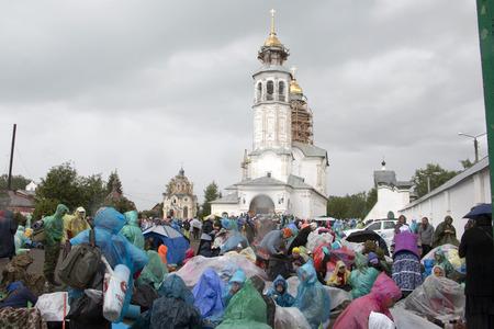 Russia, Kirov - June 06, 2016: Religious Procession on the Vyatka in 2016 in Kirov city Editorial
