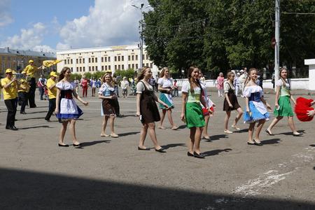 kirov: Russia, Kirov - June 11, 2016: Day of beer in 2016 in Kirov city Editorial