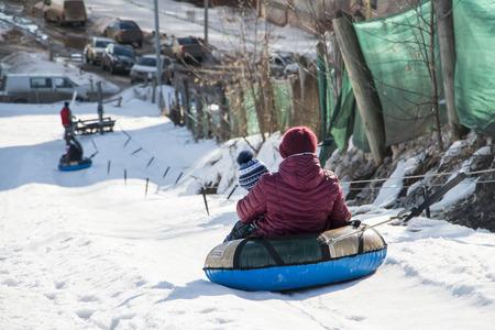 kirov: Russia, Kirov - March 12, 2016: Park for winter sports Kalinka Morozov in Kirov city in 2016