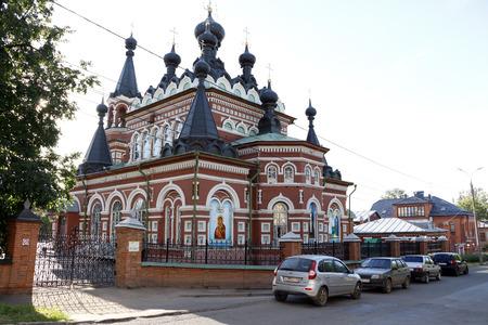sobor: Russia, Kirov - June 25, 2016: Sviato-Serafimovskiy sobor in 2016 in Kirov city Editorial