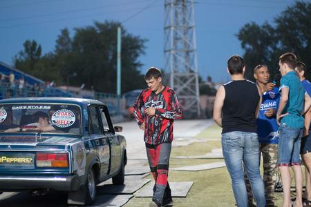 car show: Russia, Kirov - August, 10, 2016: Extreme car show in Kirov city in 2016