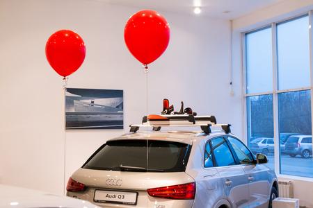 kirov: Russia, Kirov - October 28, 2016: Showroom and cars of dealership Audi in Kirov city in 2016