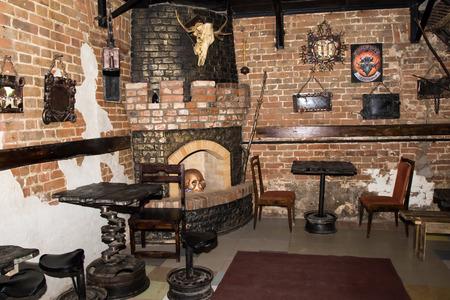 kirov: Russia, Kirov - November, 26, 2016: The interior of the night club Black Rose in Kirov city in 2016 Editorial