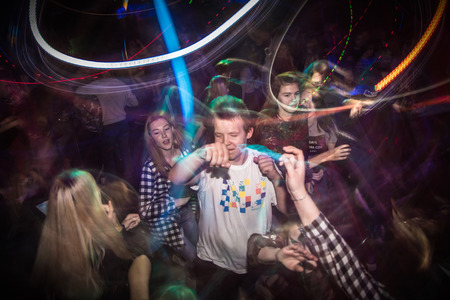 Russia, Kirov - November, 13, 2016: Big party for young people in Kirov city in 2016 Editorial