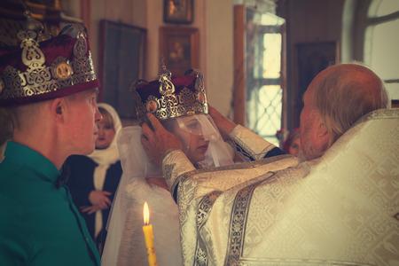 kirov: Russia, Kirov - The wedding in the Church in Kirov city in 2016