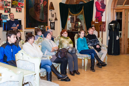 excursion: Russia, Kirov - November, 14, 2016: Excursion in Drama theatre in Kirov city in 2016 Editorial