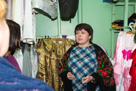 kirov: Russia, Kirov - November, 14, 2016: Excursion in Drama theatre in Kirov city in 2016 Editorial
