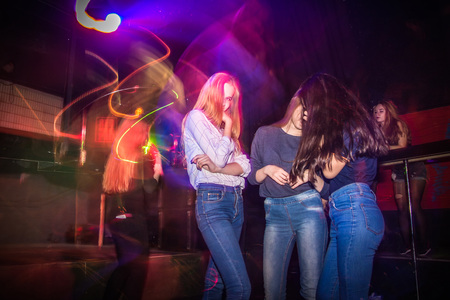 entertaining: Russia, Kirov - November, 13, 2016: Big party for young people in Kirov city in 2016 Editorial