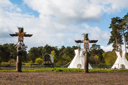 Germany, Hodenhagen - April, 22, 2017: Attraction in park attractions Serengeti in Germany in 2017 Editorial