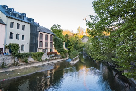 Luxembourg, Luxembourg - April, 29, 2017: Building on the street of Luxembourg in 2017