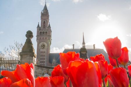 Hague, Netherlands - April, 25, 2017: International court of justice in Hague, Netherlands Editorial