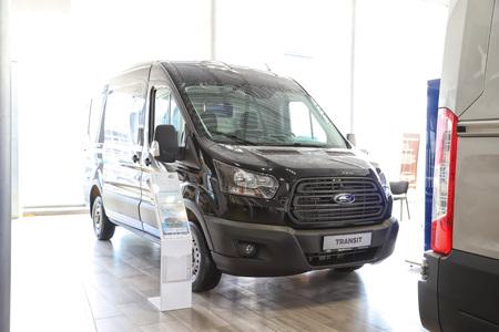Kazan, Russia - May 27, 2018: Car in showroom of dealership Ford in Kazan in 2018