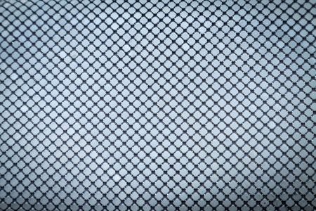 Iron cloth with white metal squares. Bands and lines. Texture