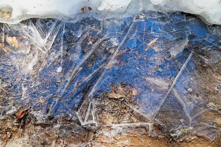 ice background texture - frozen puddle macro