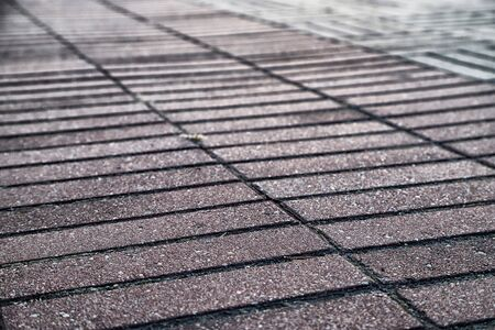 Concrete paver block floor pattern for background outdoors