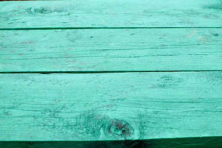 Old green board for background or texture. Wooden background with horizontal board