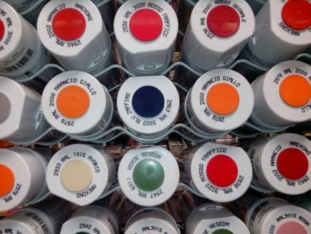 canvas: Color sprays Stock Photo