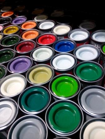canvas: Color paints Stock Photo