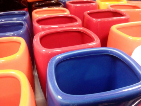 canvas: Colored cups
