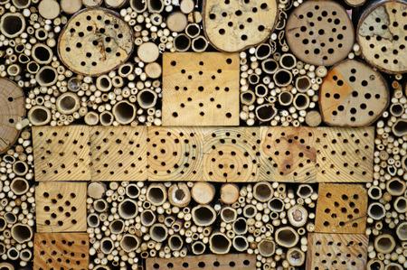 Hotel per insetti per svernare Archivio Fotografico - 27203106
