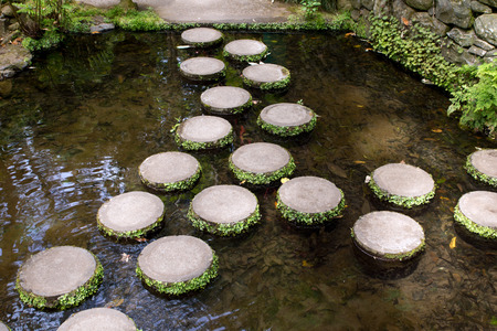 Stepping Stones, Monte Palace Tropical Garden, Funchal, Madeira Island