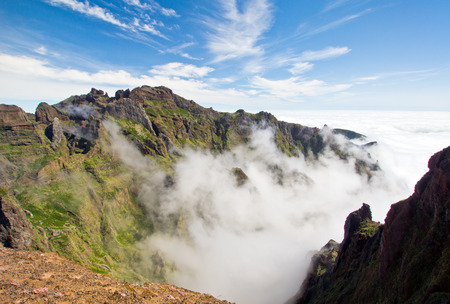 Above the clouds on the mountains of madeira