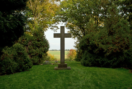 Old cross in the park photo