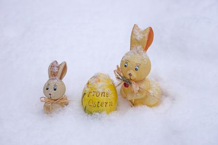 easteregg: Easter decoration in snow