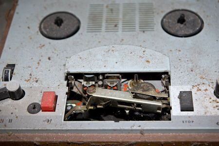 tape player: Old reel to reel tape player and recorder