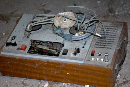 analogous: Old reel to reel tape player and recorder