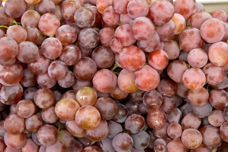 many red grapes as background photo