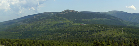 krkonose: Nature of Mts Mountains, Czech Republic Stock Photo