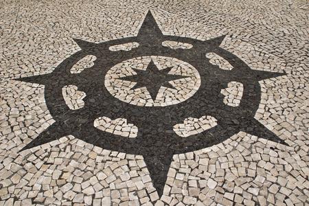 portuguese: Portuguese stone pattern Stock Photo