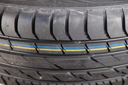 vulcanization: Brand new modern summer car tire detail
