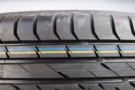 summer tire: Brand new modern summer car tire detail