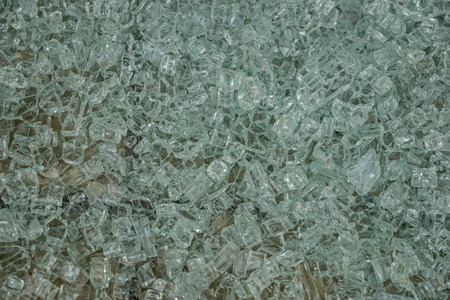 shattered: Background of little fragments of a shattered glass Stock Photo