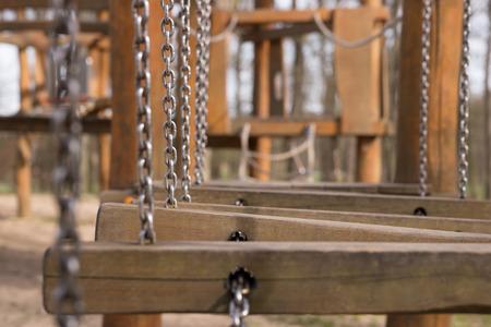 Dettaglio Di Parco giochi per bambini nel parco Archivio Fotografico - 40921197