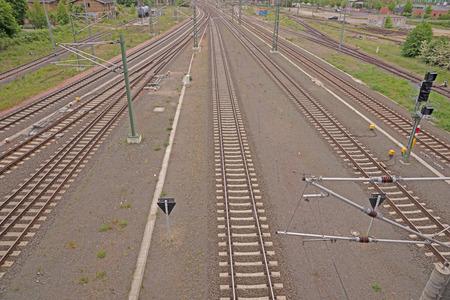 railway tracks: Railway tracks view from above