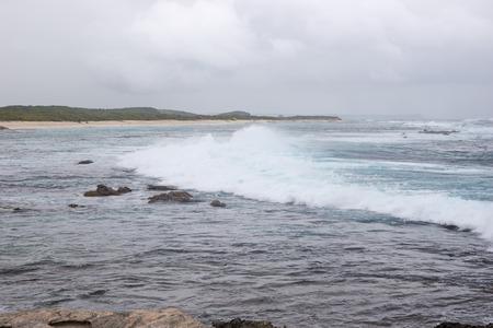 powerful: Powerful splash sea wave