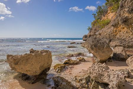 Caribbean beach in Guadeloupe, Plage de lanse Laborde