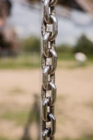 metal chain: Closeup of metal chain