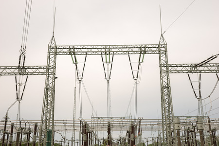 amperage: Transformer station