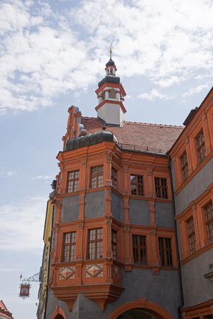 saxony: historic bay window in Grlitz, saxony Stock Photo